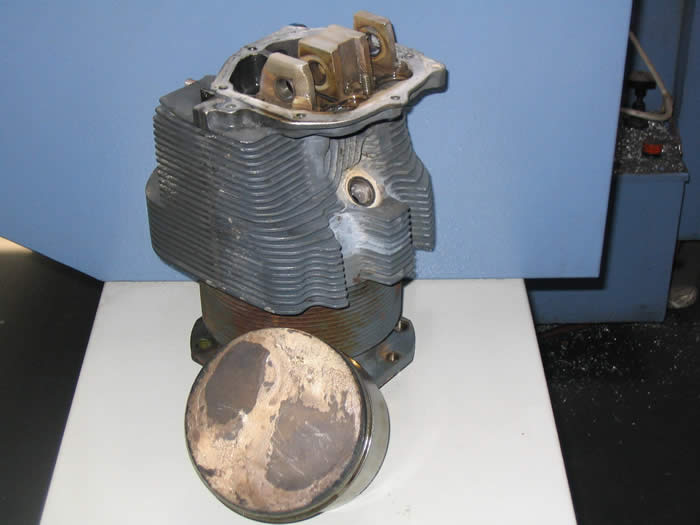 Dirty Lycoming 0-320 Barrel and Piston